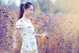 Photoshop调出美女人像梦幻紫色效果