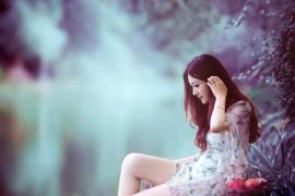 Photoshop调出美女照片梦幻唯美的紫色效果